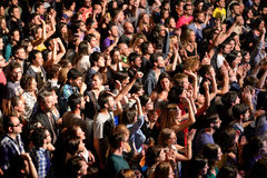Aerial view of the audience at Heineken Primavera Sound 2014 Festival Royalty Free Stock Photos