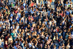 Aerial view of the audience at Heineken Primavera Sound 2014 Festival Royalty Free Stock Images