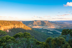 Aerial view of Australian countryside landscape Royalty Free Stock Images