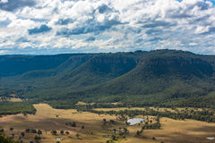 Aerial view Australian countryside landscape Stock Photo