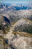 Aerial view of Austrian Alps in Summer Royalty Free Stock Photo