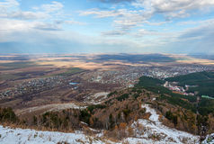 Aerial view autumn Altai Stock Photo