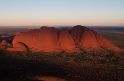 Aerial view of Ayers Rock Stock Images