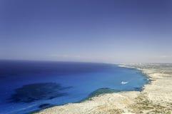Aerial view of Ayia Napa beach Royalty Free Stock Image