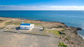 Aerial view of Ayia Thekla church 2 Stock Images