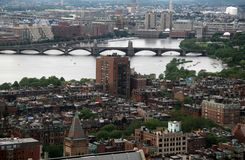 Aerial View Back Bay Boston Royalty Free Stock Images