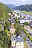 Aerial view of Bad Schandau, Germany. Royalty Free Stock Photo
