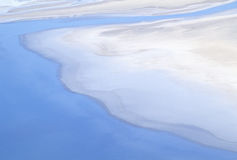 Aerial View of Bad Water, Death Valley, California Stock Photography