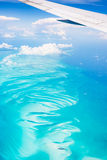 Aerial view of the Bahamas Royalty Free Stock Images