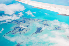 Aerial view of the Bahamas Royalty Free Stock Photography