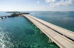 Aerial view of Bahia Honda bridge Royalty Free Stock Images