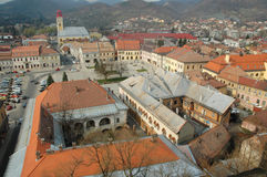 Aerial view of Baia Mare city. Romania. View from the city tower Royalty Free Stock Photos