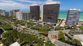 Aerial view of Bal Harbour Florida Stock Photos