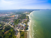 Aerial view of Balok beach Royalty Free Stock Image