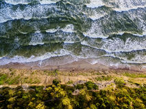 Aerial view of the Baltic Sea coast in Lithuania Royalty Free Stock Photography