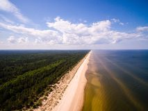 Aerial view on Baltic sea royalty free stock photo