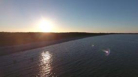 Aerial view on baltic sea juliusruh island ruegen. Germany stock footage