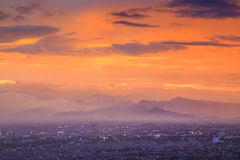 Aerial View Bandung City Royalty Free Stock Photography
