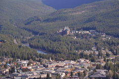Aerial view of Banff Stock Photos