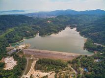 Aerial view on bang wan dam in Phukets. stock photography