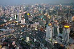 Aerial view of Bangkok Royalty Free Stock Photos