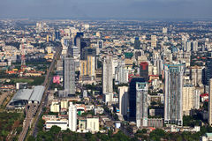 Aerial view at the Bangkok city Stock Images