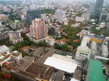 Aerial view of Bangkok City stock image