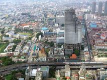 Aerial view of Bangkok city in Thailand, Asia Royalty Free Stock Image