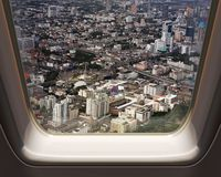 Aerial view of Bangkok city royalty free stock photos