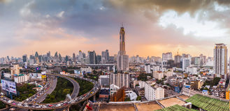 An aerial view of Bangkok city Stock Photography