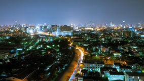 Aerial view of Bangkok. Cityscape at Night in West Side of Bangkok, Thailand. The Aerial view of Bangkok. Cityscape at Night in West Side of Bangkok, Thailand Royalty Free Stock Image
