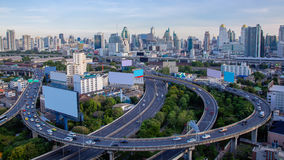 Aerial view of Bangkok Express ways Stock Photos