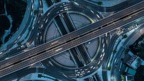 Aerial view Bangkok Expressway. Royalty Free Stock Photography