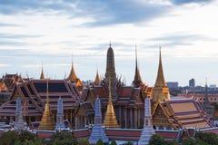 Aerial view Bangkok Grand Palace Stock Photos