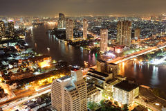 Aerial view on Bangkok Royalty Free Stock Photo