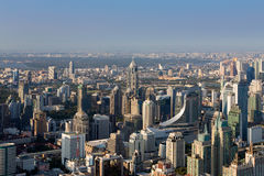 Aerial view, Bangkok office building central business downtown Stock Image