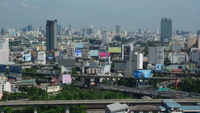 Aerial view of Bangkok stock video footage