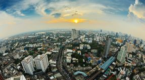 Aerial view of Bangkok Stock Image