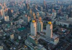 Aerial view of Bangkok, Thailand at sunset. Royalty Free Stock Photography