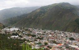 Aerial  View of Banos, Ecuador Royalty Free Stock Photos