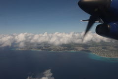 Aerial view of Barbados Royalty Free Stock Image
