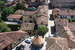 Aerial view of Barbaresco, Italy Royalty Free Stock Images
