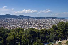 Aerial view of Barcelona Royalty Free Stock Photo