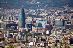 Aerial view of Barcelona Stock Photography