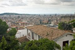 Aerial view of Barcelona Royalty Free Stock Photos