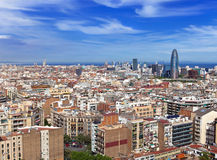 Aerial view of Barcelona Royalty Free Stock Photography