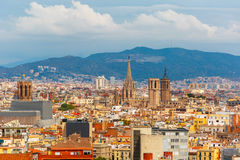 Aerial view of Barcelona, Catalonia, Spain Stock Photography