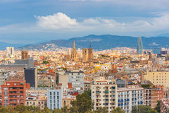 Aerial view of Barcelona, Catalonia, Spain Royalty Free Stock Photography