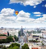 An aerial view of Barcelona City Royalty Free Stock Photo