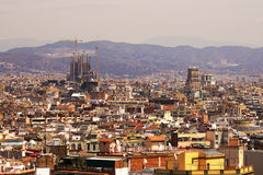 Aerial view of Barcelona city Stock Image